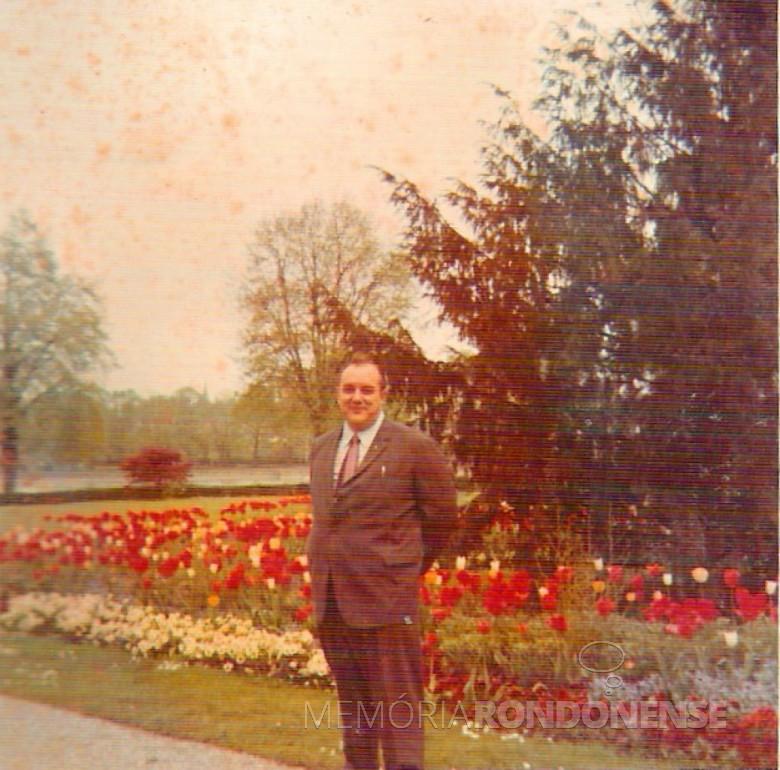 Dr. Seyboth em Munique, Alemanha. 1968.