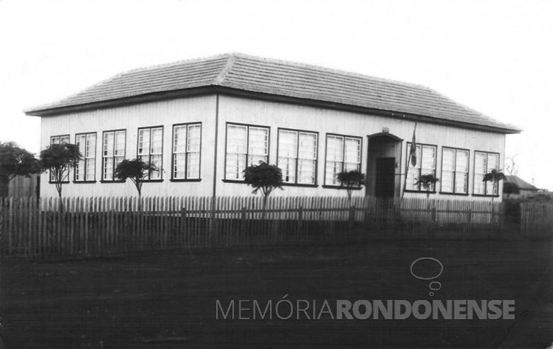 1ª Escola Municipal de General Rondon, Diretor Valdomiro Liesen. 1956