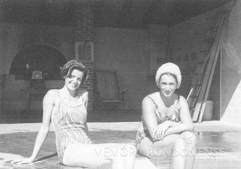 Elizabeth Wanderer e  Crista Isenberg,  em 1963.
