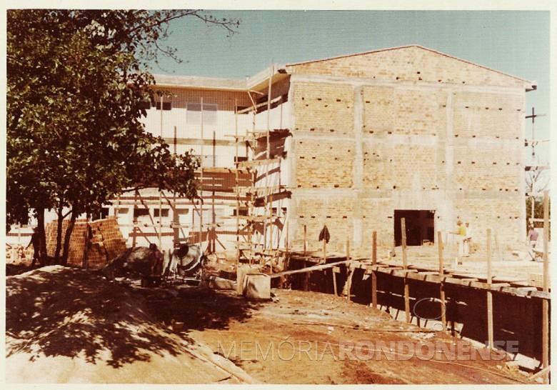 Outro detalhe da 4ª etapa da ampliação do Hospital e Maternidade Filadélfia, em 1977.