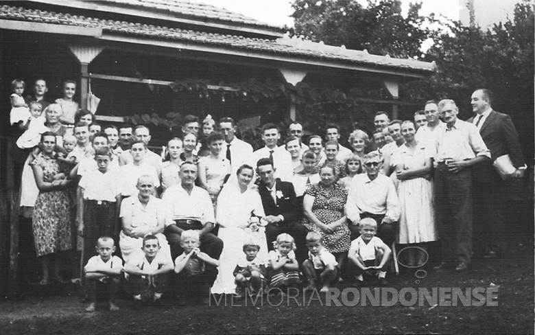 Presente de casamento  da Família Seyboth no casamento de Oto e Vilma Gerke