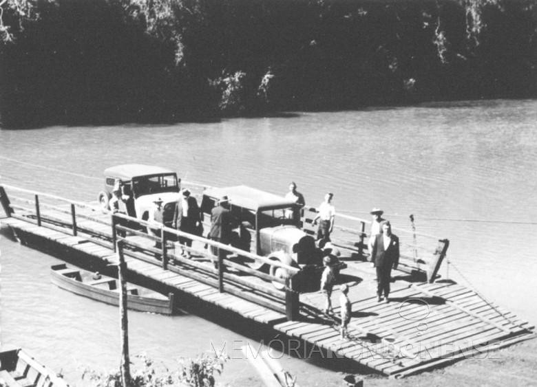 Balsa sobre o Rio São Francisco, em 1961.