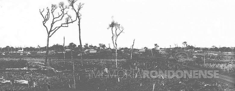 Vista parcial de General Rondon, em 1955.